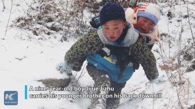 Children of Yi ethnic group embrace better life, education after relocation